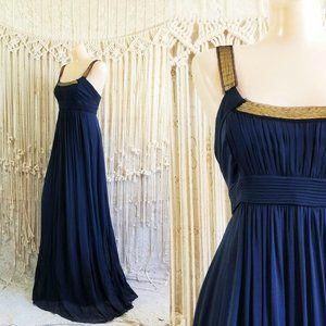 {euc} BCBGMaxAzria Chiffon Sequin Goddess Gown 🌙
